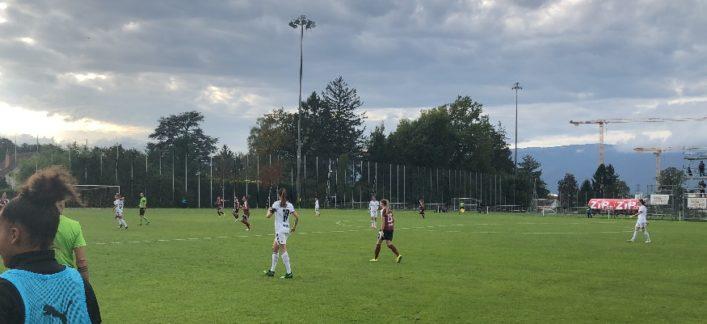 Servette FCCF – FC Basel Frauen 2-2 (1-0) : 8 minutes de flottement qui coûtent cher