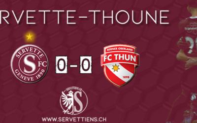 Servette-Thoune: Le live score